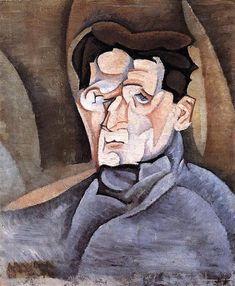 Retrato de Maurice Raynal, 1911 - Juan Gris. Cubismo Analítico