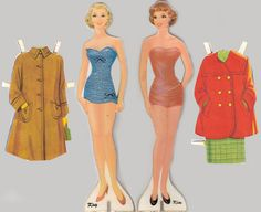 children's dolls from the 1950's | paper dolls 1950s from a personel collection i ve had since the 1950s ...