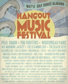 2011 Hangout Music Fest - Octopus Poster - $0.00 - SOLD OUT