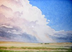 Thunderstorm    watercolor