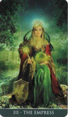 The Empress - Tarot Card Tarot Cards Major Arcana, Tarot Significado, Jugendstil Design, Oracle Tarot, Tarot Learning, Tarot Card Meanings, The Empress, Tarot Readers, Deck Of Cards