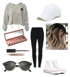 """""""Out touring"""" by natalie1027 on Polyvore featuring Sans Souci, Converse, Sole Society, Ray-Ban, Urban Decay and Burberry"""