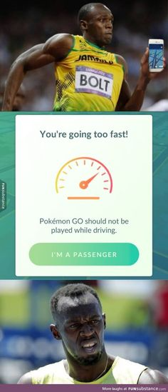 When Usain Bolt plays Pokemon GO.