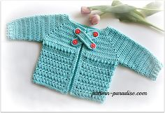 X Stitch Baby Cardigan Sweater By Maria Bittner - Free Crochet Pattern - (ravelry)