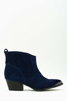 Drifter Boot - Blue in Shoes Boots at Nasty Gal