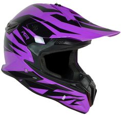 PGR SX22 SLASH Adult MX Motocross ATV Dirt Bike Quads Rackus Enduro Downhill DOT Helmet (X-Large, Neon Purple Black). Advance Light weight Durable ABS Hybrid Shell, Removable Impact Absorbent. High Quality Paint Finish ( UV Protection ). Dual-Layer Density EPS Construction. Double D Ring Strap rentension system. Meet and Exceed DOT Safety Standard for US Market.