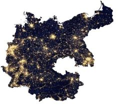 Post with 0 votes and 1176 views. Germany at night - by