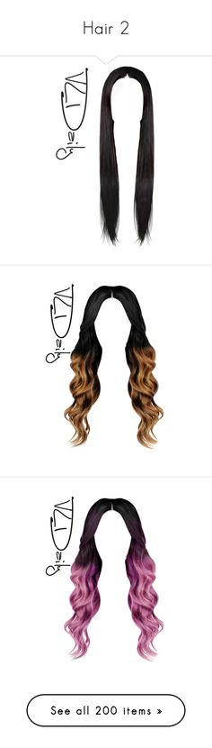 """""""Hair 2"""" by winsletnoviacruz ❤ liked on Polyvore featuring hair, hairstyles, doll hair, wigs, dolls, fillers, cabelos, doll parts, cabelo and filler"""
