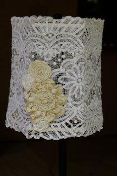 Handmade Vintage Doily Shabby Chic Lampshade by ArtfulMelange