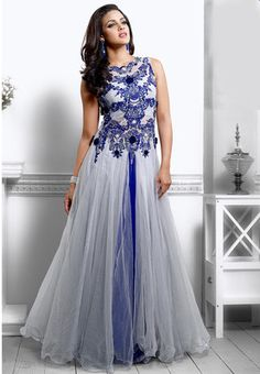 Natasha Couture - Shop with confidence from the exclusive collection of Indian Designer Women Clothing. We offer wedding lehenga, bridal lehenga, wedding sarees and anarkali suits online in India and Worldwide. Party Wear Long Gowns, Dresses To Wear To A Wedding, Indian Wedding Outfits, Party Gowns, Party Dress, Indian Outfits, Western Outfits, Indian Weddings, Bridesmaid Dresses