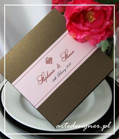 Zaproszenia ślubne Victora / Victoria wedding invitation. Product By / www.artedesigner.pl
