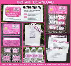 Mall Scavenger Hunt Invitations & Party Decorations
