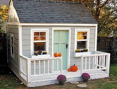 diy playhouse | Rebecca Ridner spent most of the summer working on this playhouse for ...
