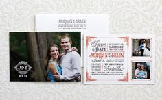 three photo save the date - invitation solutions