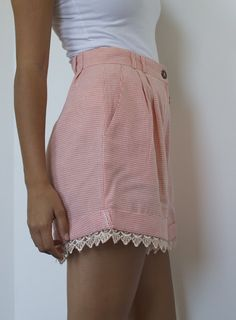 DIY Lace Trimmed Shorts « a pair & a spare