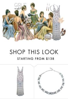 """Girls Night Out 1920s"" by jeanstapley ❤ liked on Polyvore featuring Alice Menter and Whiting & Davis"