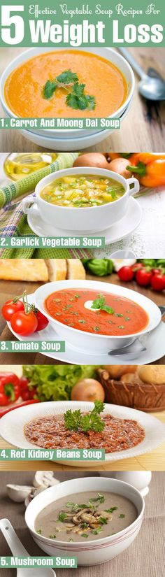 Are you planning to lose your weight in a healthy manner? Here are 5 effective vegetable soup recipes for weight loss for you to try out today. #vegetablesoups #recipes #weightloss