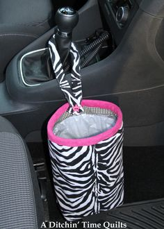 Tutorial for car trash bag holder