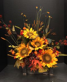 Autumn sunflowers by Andrea 2016 store # 6700