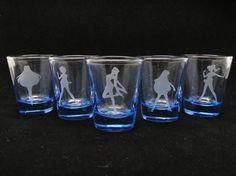 Sailor Moon Sailor Scout Silhouette 15 oz Shot Glass by iamadecoy, $40.00