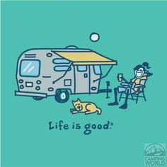 Life is good Ladies Airstream Lemonade T-shirt Aqua Blue - Small - Life is Good - Clothing Misc - Camping World Camping Glamping, Camping Gear, Outdoor Camping, Outdoor Fun, Camping Outdoors, Camping Essentials, Camping Hacks, Vintage Campers Trailers, Camper Trailers