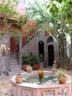 A garden of an old house in Damascus.