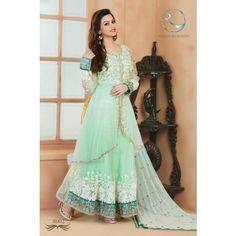 s8007_Beautiful Lightgreen Wedding salwar suit
