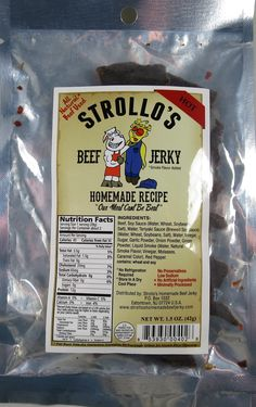 Discover how Strollo's - Hot beef jerky fared in a jerky review. http://jerkyingredients.com/2015/05/28/strollos-hot-beef-jerky-recipe-2/ @Strollos-Homemade-Beef-Jerky #beefjerky #ingredients #review #jerky #strollos #beef #jerkyreview #jerkyingredients #strollosjerky