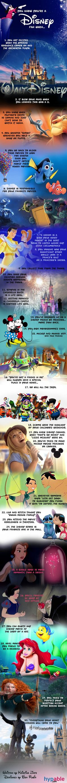 You Know You're A Disney Fan When… [Infographic]