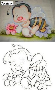 desenhos variados para pintura em tecido