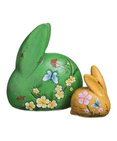 Take a look at the Blossoms & Blessings Rabbit Statuary Set on #zulily today!