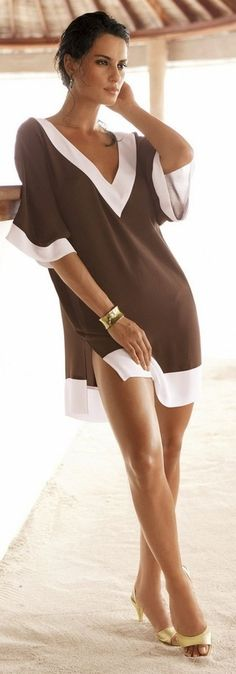 awesome Mocha Swimwear Cover-up. I love it!!!...