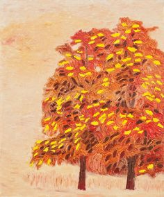 Sanghoon Oh,가을 나무 Tree in autumn, Oil on canvas, 73x61cm, 2009