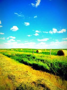 Beautiful Saskatchewan <3...one of the last places you will see hay cut in the ditch