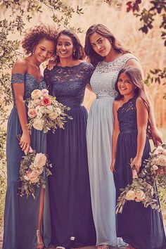 Mix Match Bridesmaids, Bridesmaid Poses, Mismatched Bridesmaid Dresses, Junior Bridesmaid Dresses, Bridal Party Dresses, Elegant Wedding Dress, Best Wedding Dresses, Whimsical Wedding, The Dress