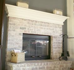Cleverlyinspired: First Project 2011, Whitewash Brick-LOVE IT!!!