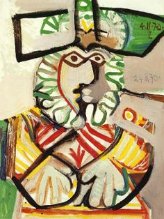 Musketeer, 1970 by Pablo Picasso, Later Years. Portraits Cubistes, Cubist Portraits, Picasso Portraits, Pablo Picasso Quotes, Art Picasso, Picasso Paintings, Famous Spanish Artists, Famous Artists, Cubist Movement