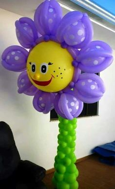 Happy birthday balloon flower