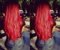 #RedHair #longhair #manicpanic #vampirered #redhead #SexyRed