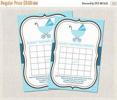 ON SALE Baby Shower BINGO Polka Dots Baby by PixieBabyShower