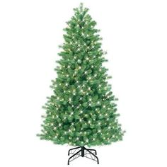 GE 6.5 ft. Pre-Lit Just Cut Bavarian Pine Artificial Christmas Tree with Clear Lights-16668HD at The Home Depot