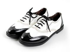 New Womens Retro Lace Ups Oxfords Shoes Flats Low Heels Loafers Ballet shoes #LoafersMoccasins