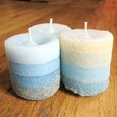 Make molds from sand to cast you own custom candles.
