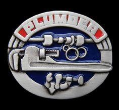 Belt Buckle Plumber Pipe Fitter Wrench Worker Trade Occupational Belts & Buckles #plumber #plumbing #plumbertools #beltbuckle