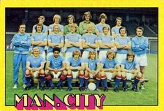 1974-75 A&BC Gum #42 Manchester City Team Front