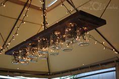 Great Mason Jar Light Tutorial to make this style of mason jar light with Christmas lights.
