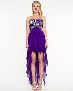 Chiffon High Low Cocktail Dress