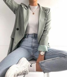 Fashion outfits and style ideas for the warm year look Fashion . - Fashion outfits and style ideas for the warm year-round look fashion - Outfit Stile, Outfit Goals, Outfit Work, Mode Outfits, Trendy Outfits, Fall Outfits, Hipster Outfits, Skirt Outfits, Stylish Clothes