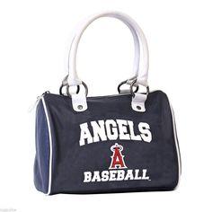 NEW MLB Baseballl Team Los Angeles Angels Purse Handbag Hobo Bowler Style Bag #LosAngelesAngels