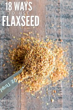 From eggs to pudding to granola to hummus to crackers – I'm amazed at this list of ways to use flaxseed! There are so many ways to use flaxseed beyond a smoothie! Best Nutrition Food, Health And Nutrition, Health Tips, Nutrition Guide, Nutrition Articles, Nutrition Websites, Nutrition Chart, Fitness Nutrition, Health Benefits